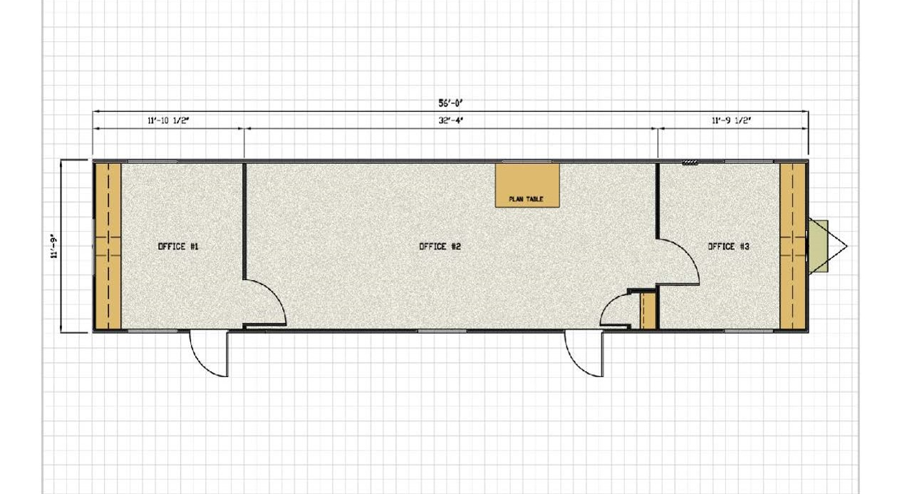 single wide trailer layout